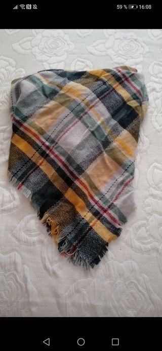 bufanda de cuadros extra larga invierno