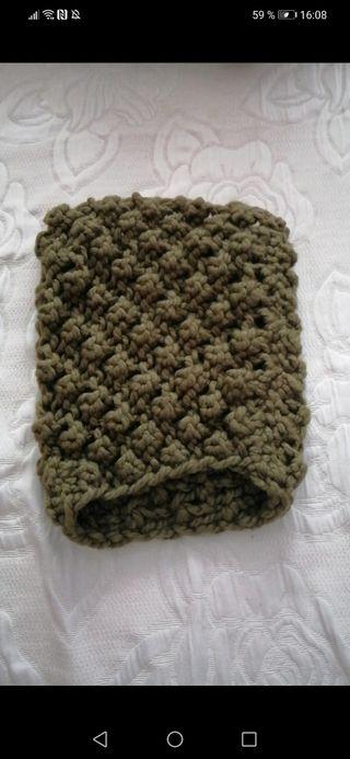 cuello bufanda de lana hecho a mano