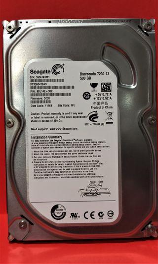 "Disco duro 500 Gb 3,5 ""conex. SATA para sobremesa"
