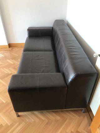Sofá piel IKEA
