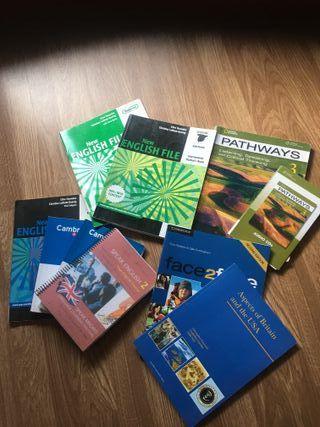 Libros inglés y francés