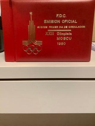 Sobres primer día olimpiadas Moscú 1980