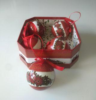 """Caja 5 Bolas """"Christmas"""" NUEVA"""