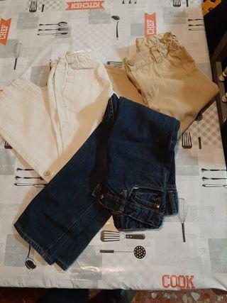 Lote tres pantalones talla 7