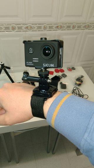 correa muñequera 360° ca cámara GoPro y deportivas