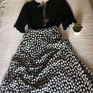 Falda midi lunares Zara T L
