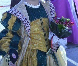 capa medieval vestido medieval