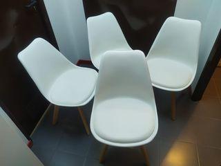 4 sillas nordicas