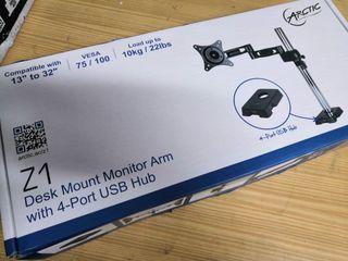 Brazo soporte monitor Artic nuevo con hub usb