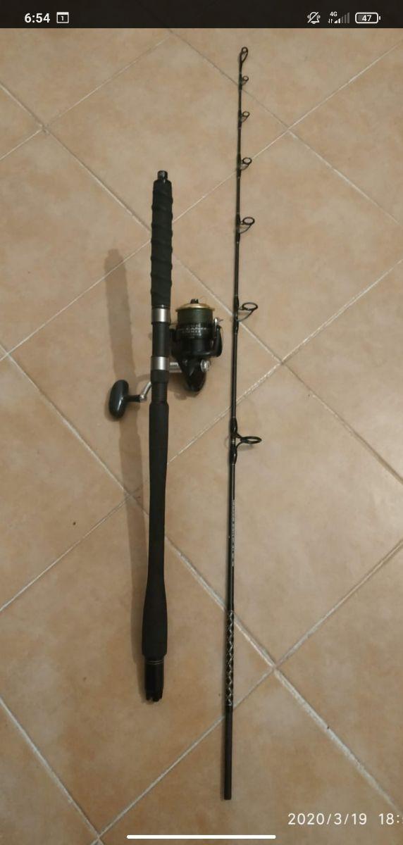 cañas de pescar pesca jigging