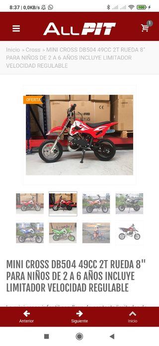 Mini moto cross 504 de49ccc iniciacion
