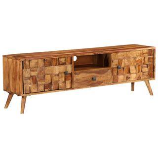 Mueble TV madera maciza sheesham acabado miel 140