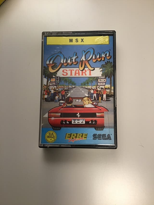 Juego OUT RUN en cassette MSX