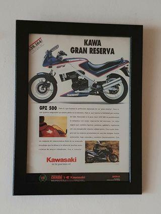 PUBLICIDAD KAWASAKI GPZ 500