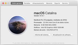 MacBook Pro Med 2012 i5 500 Gb 8 RAM