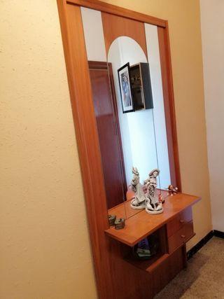 OCASIÓN mueble recibidor con espejo barato