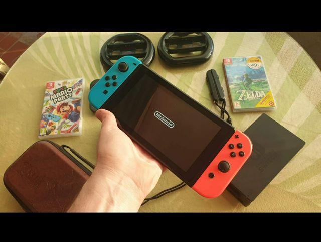 Pack Nintendo Switch COMPLETA [Pantalla, 2 joy-co