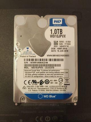 DISCO DURO SATA WD 1TB (+otro Hitachi 160GB)