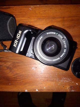 Cámara de fotos digital RICOH y accesorios