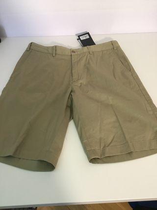 Pantalón corto Paul & Shark color caqui strectch