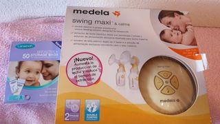 Sacaleches eléctrico Medela doble swing maxi+calm