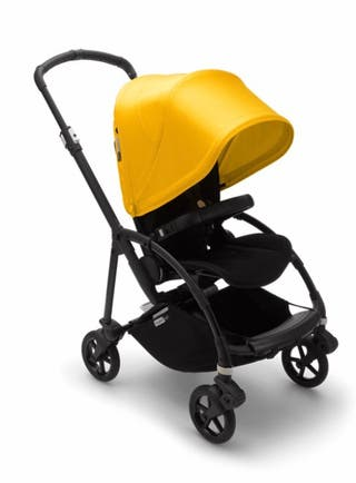 Bugaboo bee 5,capota amarilla, silla negra