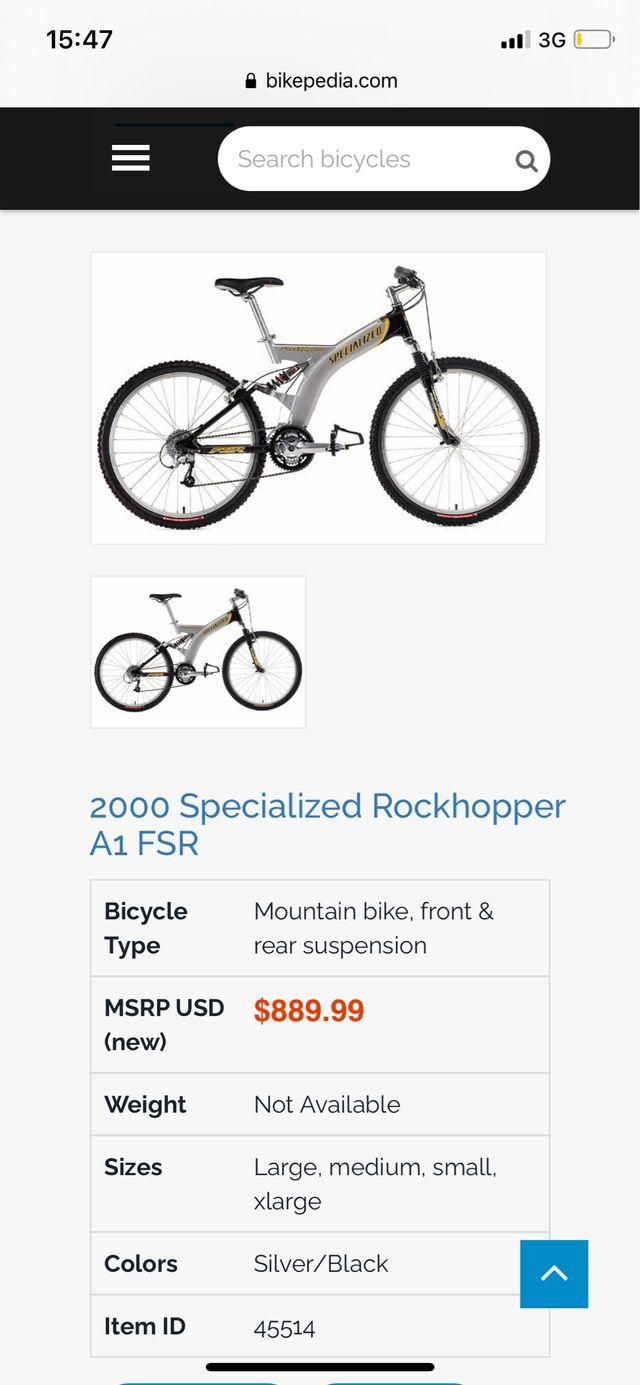 Specialized Rockhopper A1 FSR