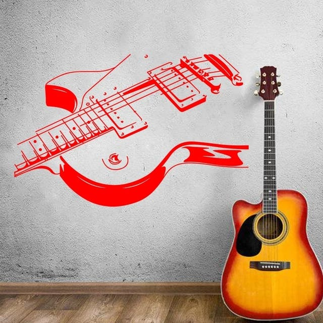 vinilo decorativo de guitarra