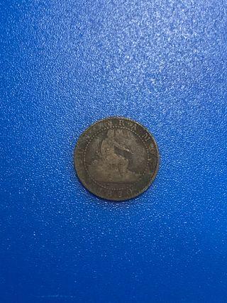 Moneda 1 centimo 1870 Gobierno Provisional