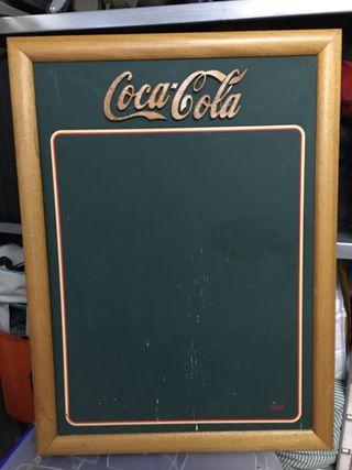 Cuadro pizarra Coca Cola
