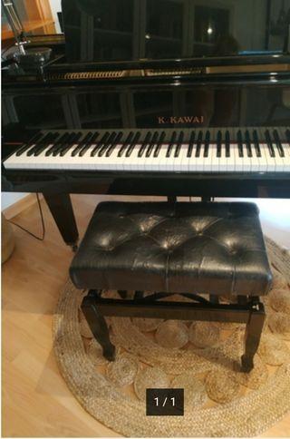 Profesora imparte clases de piano