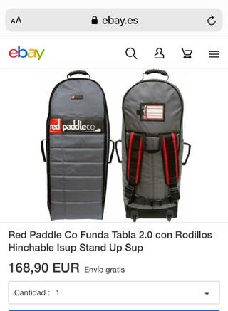 Red wood paddle bolsa transporte SUP