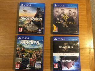 4 x PS4 Games