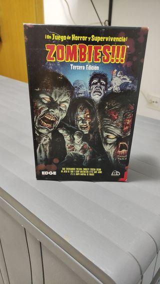 Juego de mesa Zombies Tercera edición.