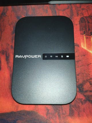 Ravpower filehub. Router wifi portátil, powerbank