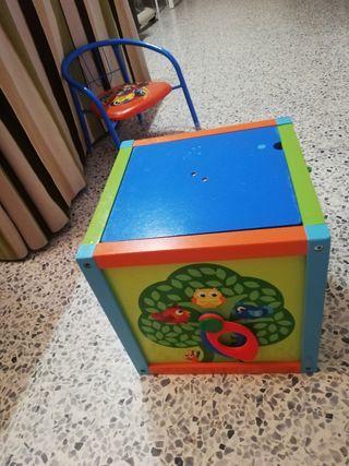 cajón de madera interactivo 15€