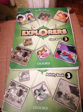 2 libros Inglés EXPLORERS OXFORD 3 Primaria