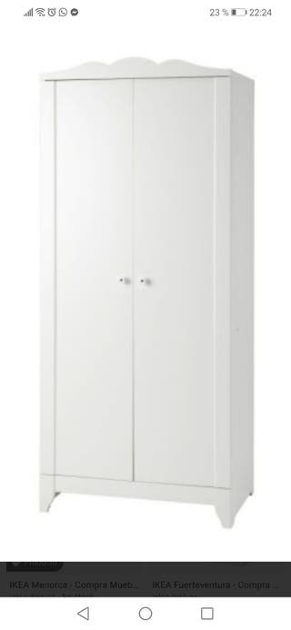 ikea armario dormitorio con puertas dibujos florales