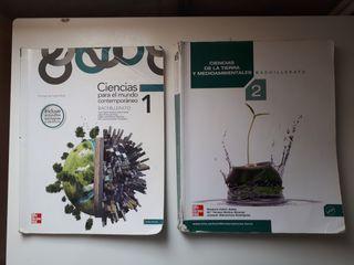 Libros de Ciencias 1° y 2° Bachillerato.