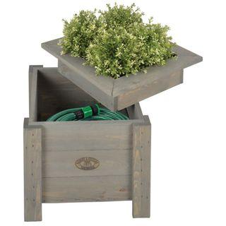 Esschert Design Jardinera 2 en 1 con sitio para gu