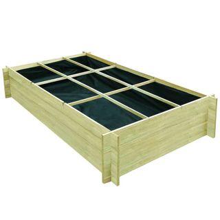 Jardinera para verduras madera pino impregnada 19