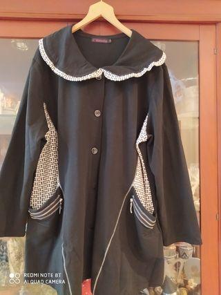 chaqueta tipo capa tallas grandes