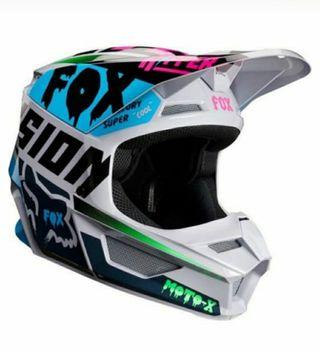 casco fox moto infantil