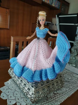 muñeca vestido artesanal