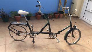 Bicicleta tándem vintage antigua