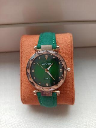 SIN ESTRENAR Reloj para mujer, GoGoey,verde dorado