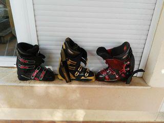 3 pares de botas de esquiar