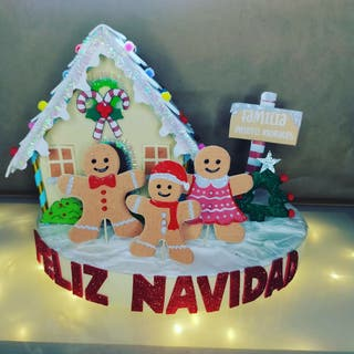 centro de mesa casa jengibre navidad decoracion
