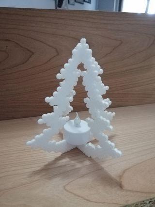 Árbol de Navidad con vela