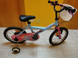 bicicleta con ruedines de 16 pulgadas